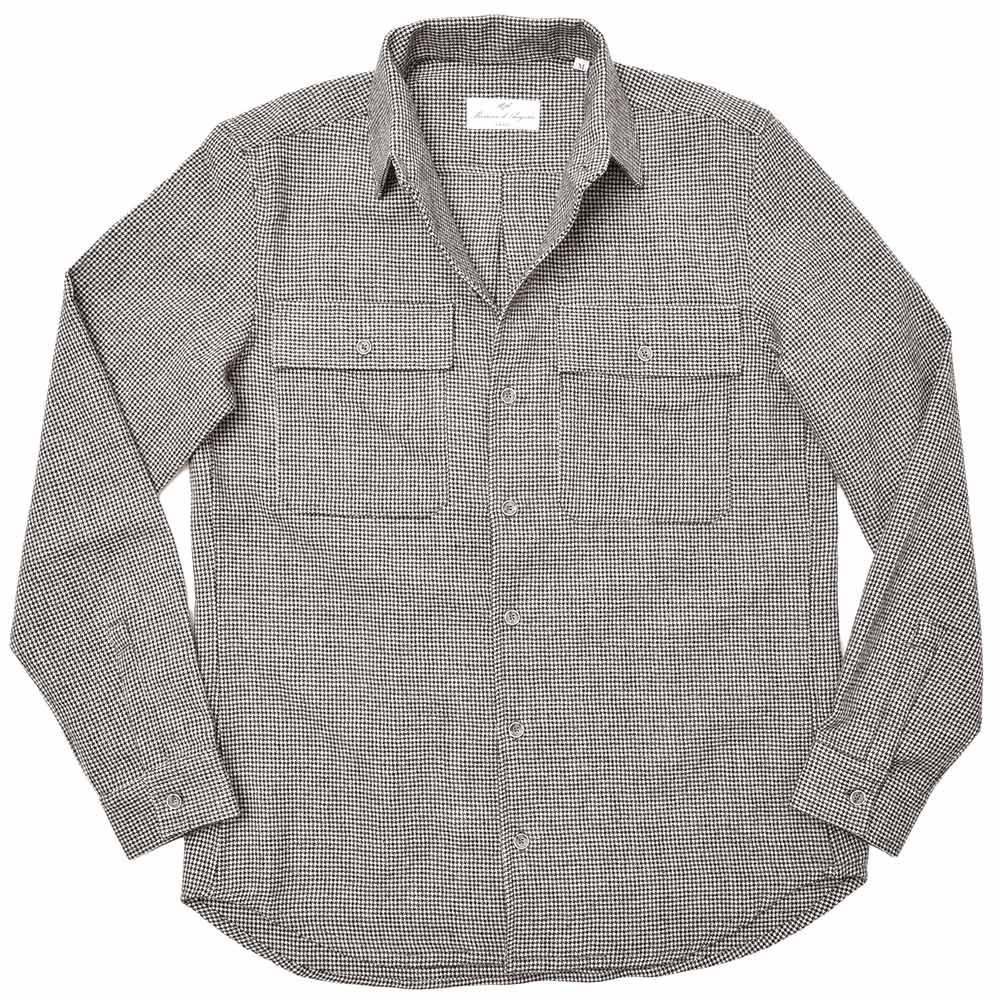 Massimo d'Augusto マッシモ ダウグストTEO ウール フランネル ハウンドトゥース CPOシャツジャケット