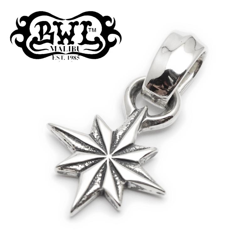 【B.W.L. ビルウォールレザー】ペンダント/PN867 Hide Star Pendant
