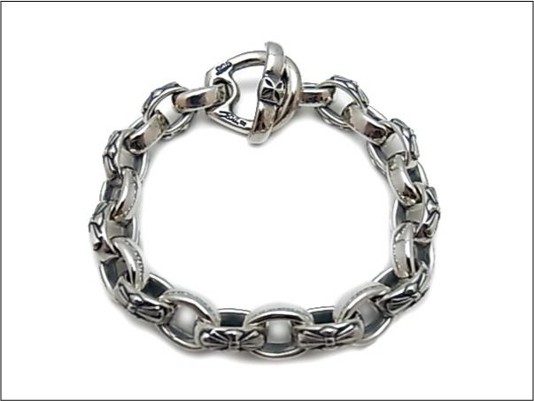 【B.W.L. ビルウォールレザー】ブレスレット/B569 Immortal Cross Mixed Link Bracelet/ Bent Cross T-bar LTD.65