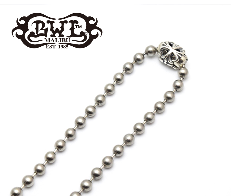 【BWL/ビルウォールレザー】ネックレスチェーン/N863ST:Large Ball Chain 6mm Stainless★REAL DEAL