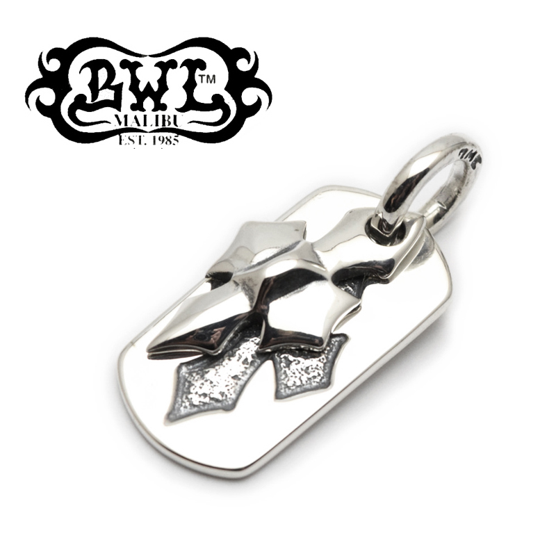 【Bill Wall Leather/ビルウォールレザー】ドッグタグ/DT607:C-Cross Dog Tag★REAL DEAL