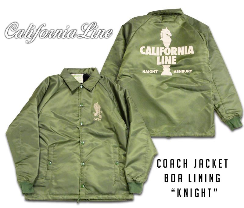 "【CALIFORNIA LINE/カリフォルニアライン】コーチジャケット/ COACH JACKET BOA LINING ""KNIGHT""""★REAL DEAL"