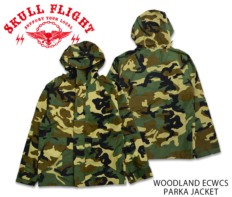 【SKULL FLIGHT/スカルフライト】ジャケット/WOODLAND ECWCS PARKA JACKET ★REAL DEAL
