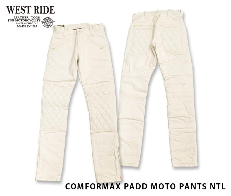 【WESTRIDE/ウエストライド】防寒パンツ/COMFORMAX PADD MOTO PANTS NTL★REAL DEAL