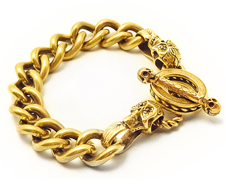 【galcia ガルシア】ブレスレット/C-BR-MSK013B MEXICAN CALAVERA / BRASS BRACELET !REAL DEAL