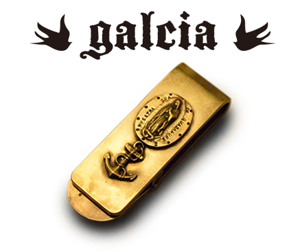 【galcia ガルシア】マネークリップ/MC-012B/MONEY CLIP / MARIA & ANCHOR!REAL DEAL
