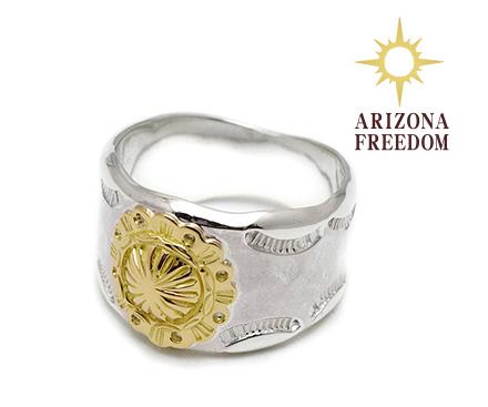 【ARIZONA FREEDOM アリゾナフリーダム】リング/RING No.14(左)/コンチョリング (シルバー)REAL DEAL