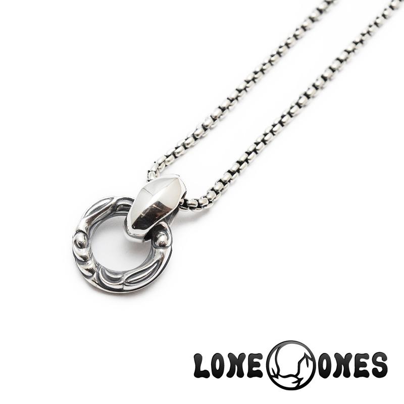 【LONE ONES/ロンワンズ】ペンダント/ MFP-0007-BOX:Crane Ring Venetian Box Chain(M) 18inch (約45cm)★REALDEAL