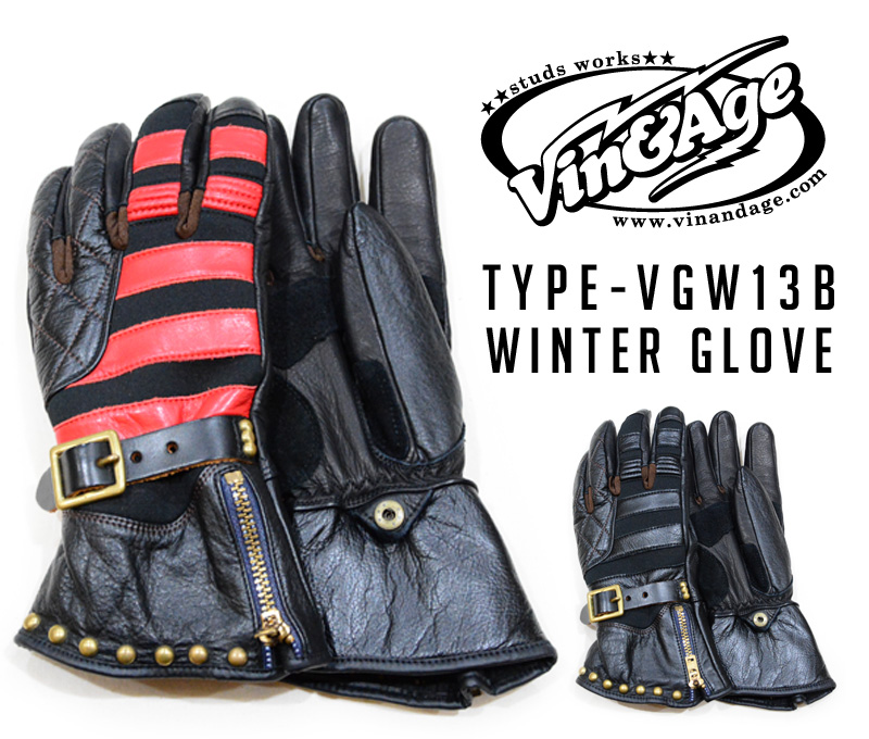 【VIN & AGE ヴィン&エイジ】ウィンターグローブ/TYPE-VGW13B WINTER GLOVE!★REAL DEAL