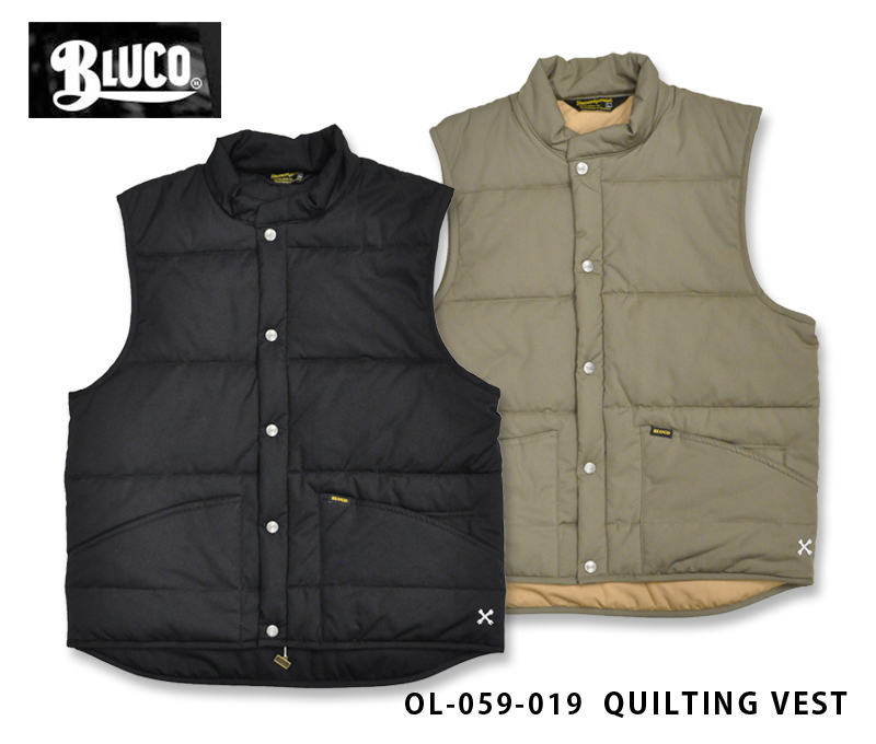 【BLUCO/ブルコ】ベスト/QUILTING VEST OL-059-019★REAL DEAL