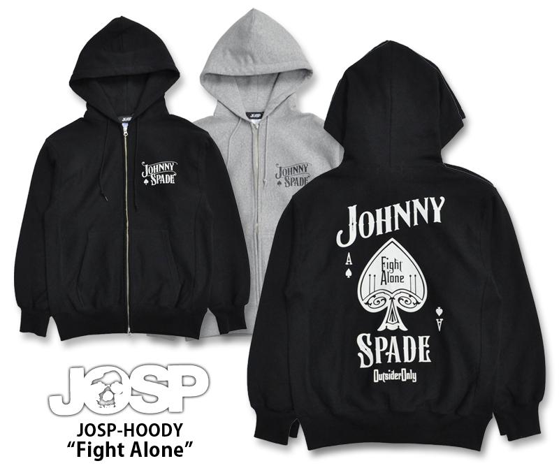 【JOHNNY SPADE/ジョニースペード】フルジップスウェットパーカー/JOSP-HOODY
