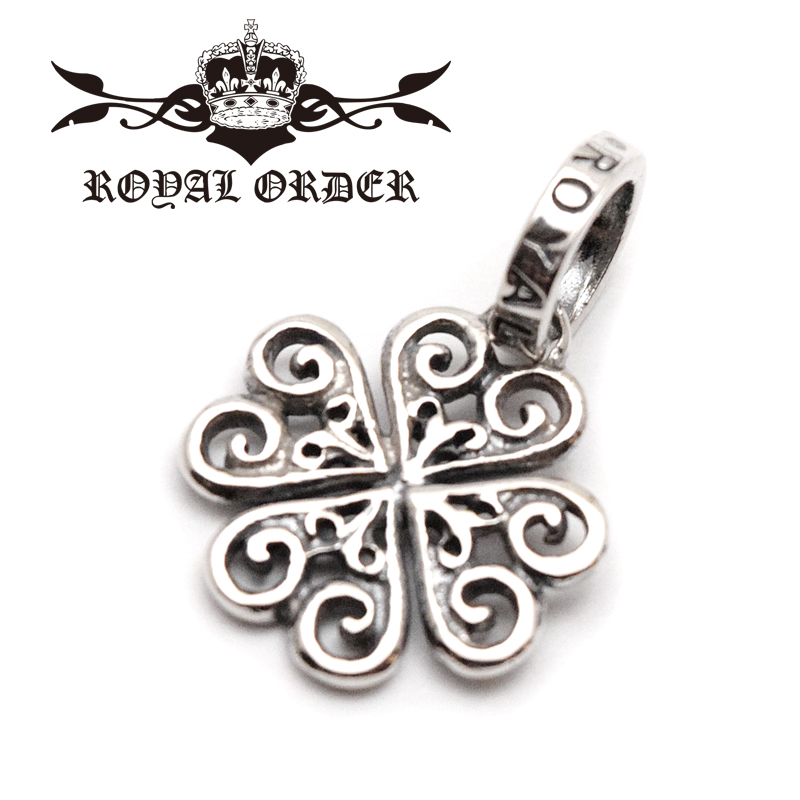 【ROYAL ORDER ロイヤルオーダー】ペンダント/SP922:ALLEGRA HEART CLOVER !REAL DEAL