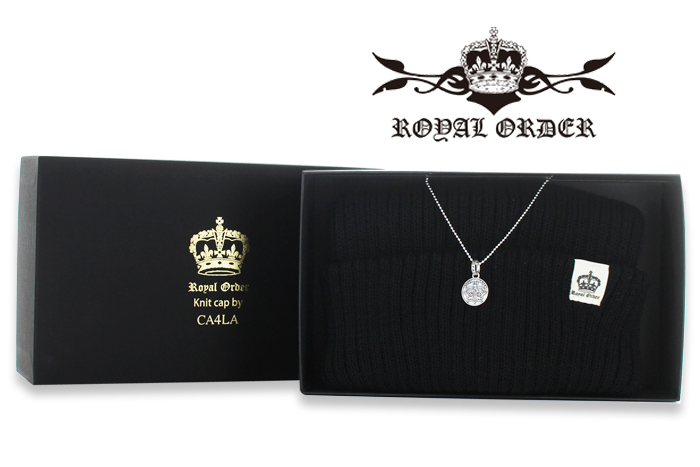 【ROYAL ORDER ロイヤルオーダー】2015クリスマス限定 TOP & Knit/Cap2015 CHIRISTMAS LIMITED Crown/Chevron star Coin Pendant w/Chain!REAL DEAL