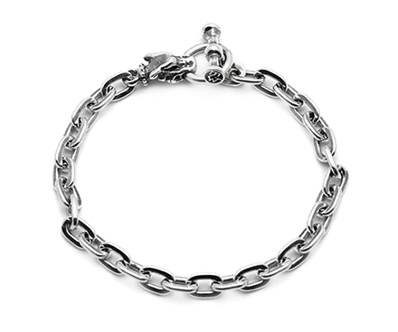 【Travis Walker トラヴィスワーカー】ブレスレット/BRS110 SMALL GARGOYLE CHARM OVAL LINK BRACERET !REAL DEAL