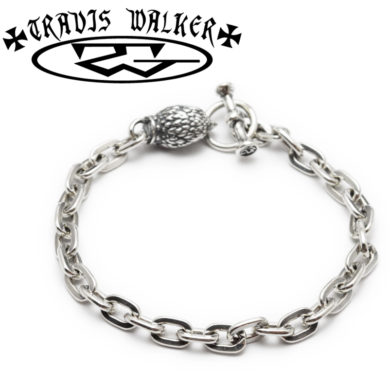 【TRAVIS WALKER/トラヴィスワーカー】ブレスレット/BRS118:EAGLE CHARM OVAL LINK BRACELET★REAL DEAL