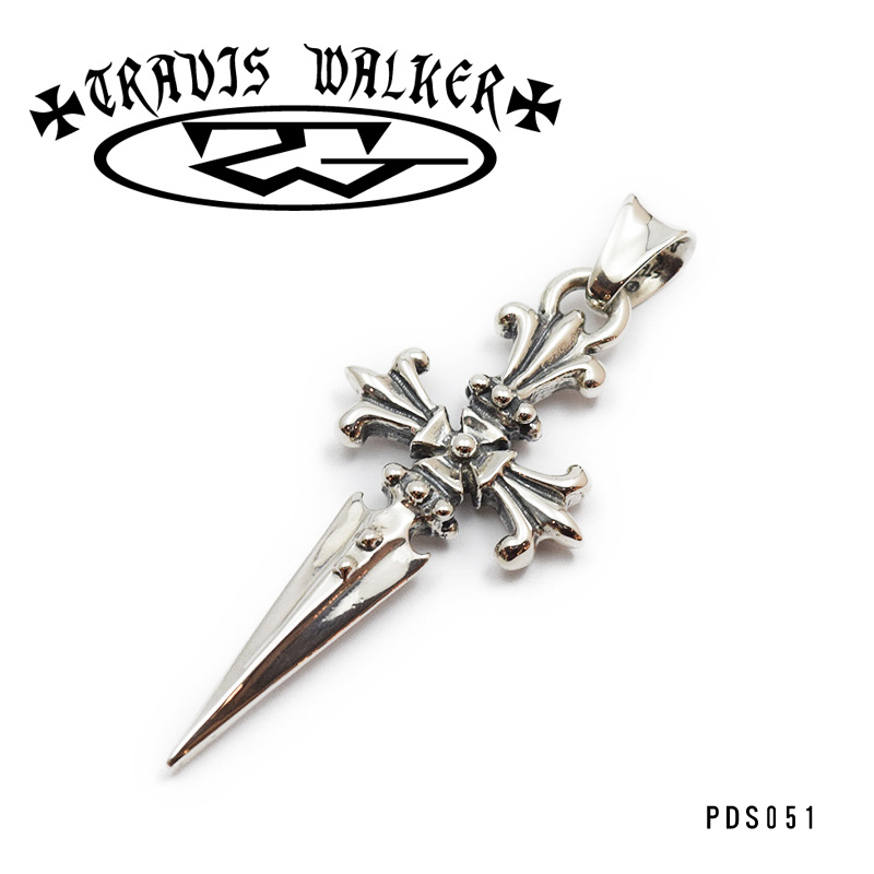 【TRAVIS WALKER/トラヴィスワーカー】ペンダント/PDS051:CROSS DAGGER (New) PENDANT★REALDEAL