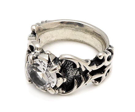 【Travis Walker トラヴィスワーカー】リング/RGS147-04 DROGON STONE RING CLEAR CZ !!REAL DEAL