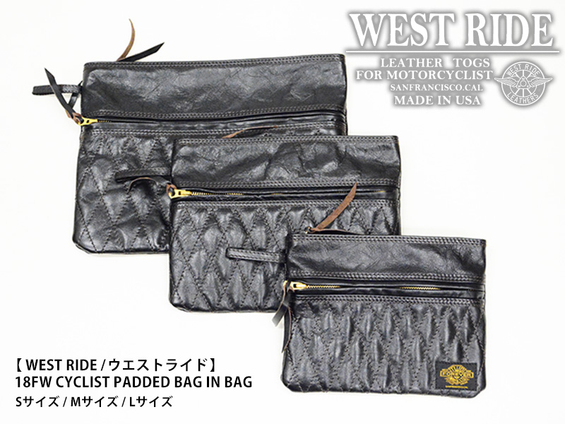 【WEST RIDE/ウエストライド】バッグ / CYCLIST PADDED BAG IN BAG Sサイズ★REAL DEAL