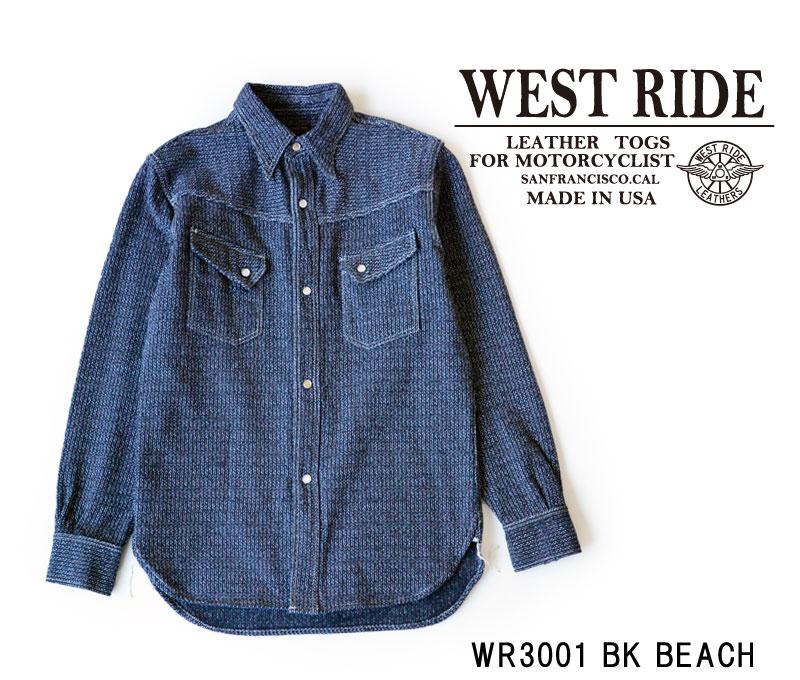 【WESTRIDE/ウエストライド】長袖シャツ/17FW WR3001 BK BEACH★REALDEAL