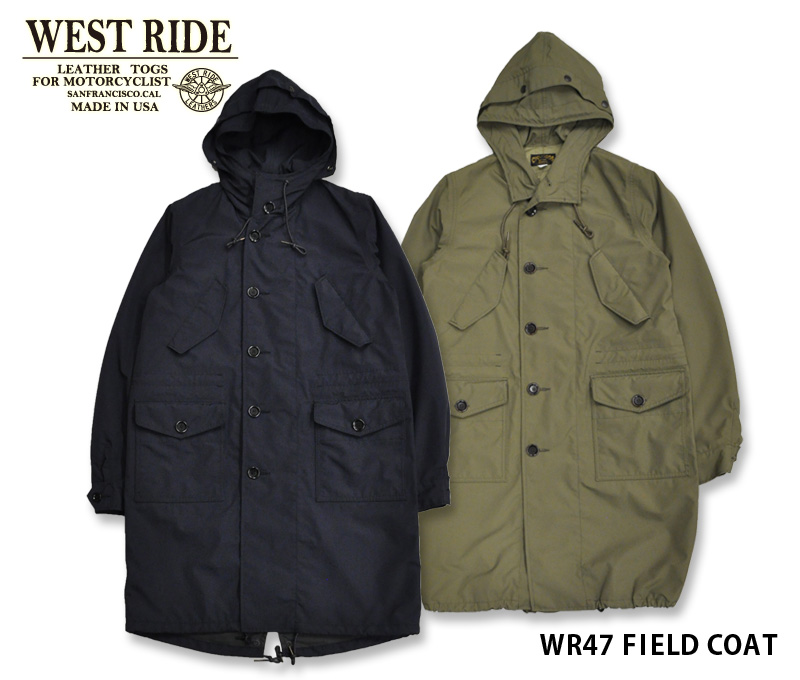 【WESTRIDE/ウエストライド】ジャケット/ WR47 FIELD COAT HR015★REAL DEAL
