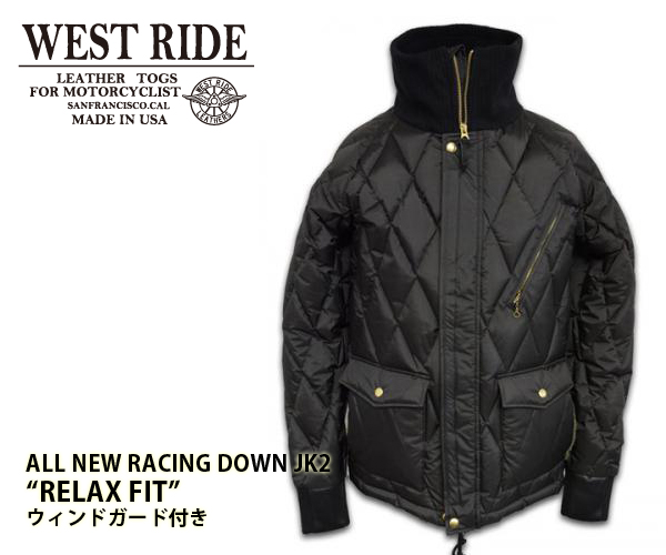 【WEST RIDE/ウエストライド】冬用ジャケット/ALL NEW RACING DOWN JK2