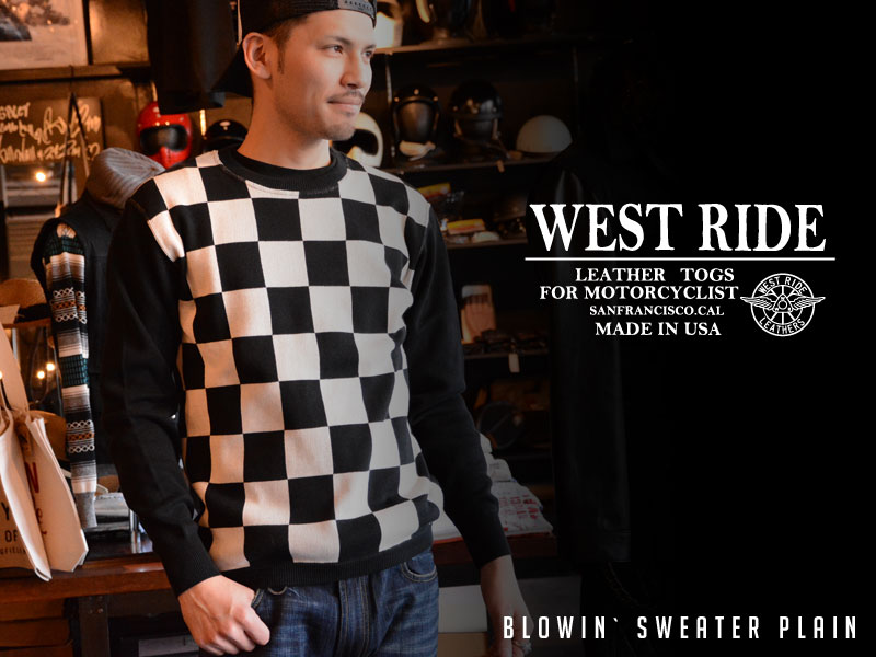 【WEST RIDE/ウエストライド】セーター/BLOWIN` SWEATER PLAIN★REAL DEAL