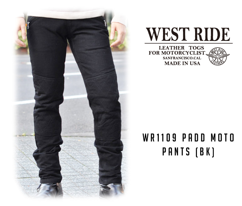 【WESTRIDE/ウエストライド】パンツ/WR1109 PADD MOTO PANTS (BK) !REAL DEAL
