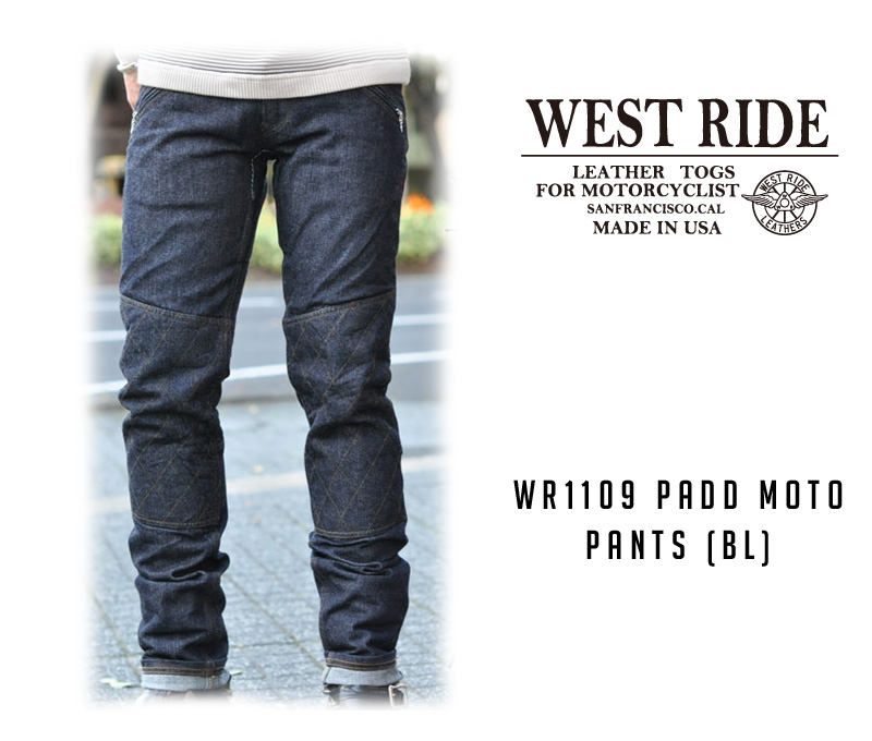 【WESTRIDE/ウエストライド】パンツ/WR1109 PADD MOTO PANTS (BL) !REAL DEAL