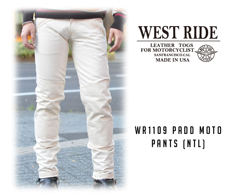 【WESTRIDE/ウエストライド】パンツ/WR1109 PADD MOTO PANTS (NTL) !REAL DEAL