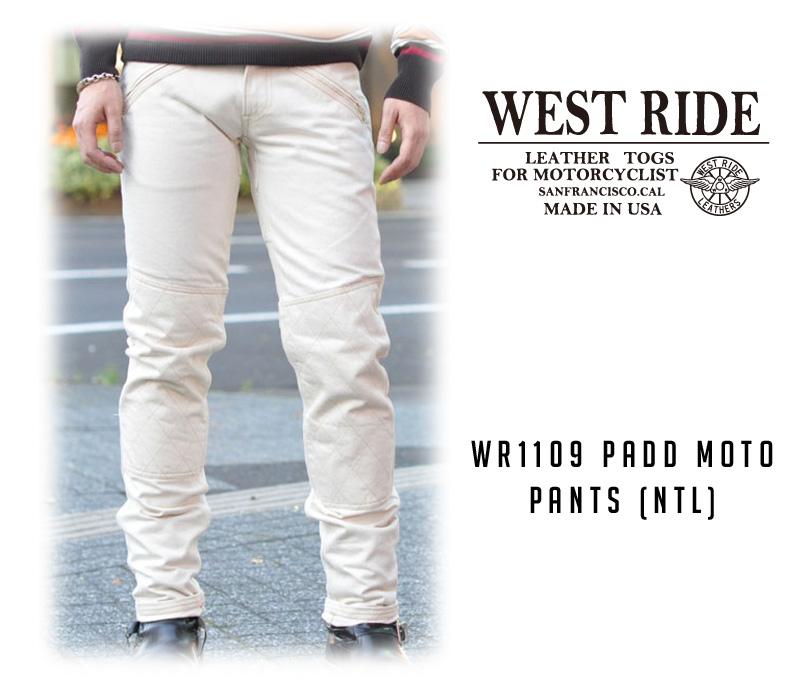 【WESTRIDE/ウエストライド】パンツ/WR1109 PADD MOTO PANTS (NTL) !REAL DEAL