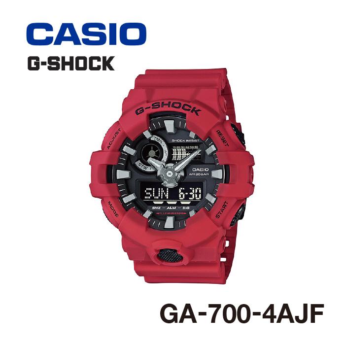 腕時計 防水 G-SHOCK ジーショック GA-700-4AJF カラー:レッド メンズ アナログ/デジタル CASIO カシオ [gs]