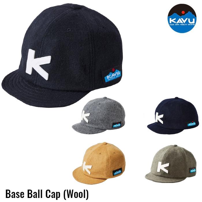 ベースボールキャップ ウール KAVU 帽子 BASEBALL CAP WOOL #19820318 カブ カブー [22019fw][2553]