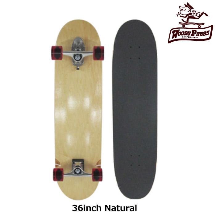 スケートボード コンプリート WOODY PRESS ウッディプレス 36インチ サーフスケート スラスター2標準装備