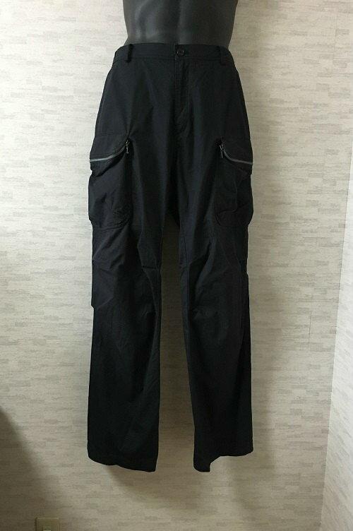 WOO YOUNG MI【ウー・ヨン・ミ】ジップポケットデザインカーゴパンツ50黒メンズ【中古】
