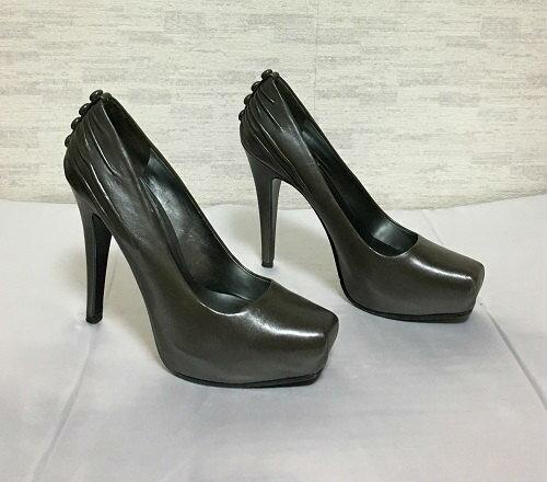 Ladies Womens /'Nine West/' Genuine Leather Chocolate Brown High Heel 11.5cm Shoes