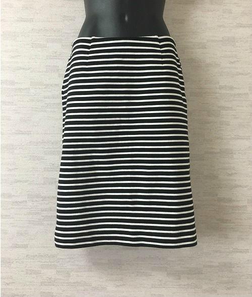 DEUXIEME CLASSE【ドゥーズィエムクラス】ミニタイトスカート黒白ボーダー38【中古】