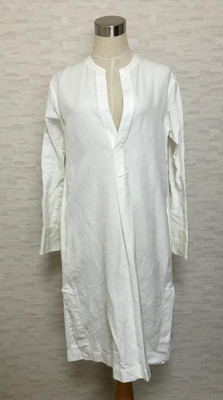 abe44be0f realize: ECUI Tokyo caftan dress white linen blend 0   Rakuten ...