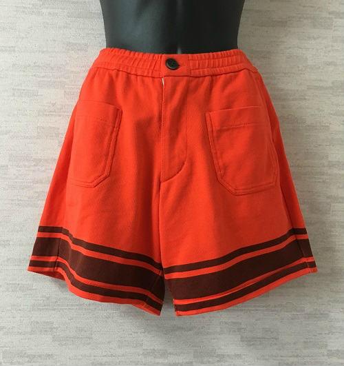 【新古品】FilMelange【フィルメランジェ】ショートパンツオレンジ裾ライン【中古】