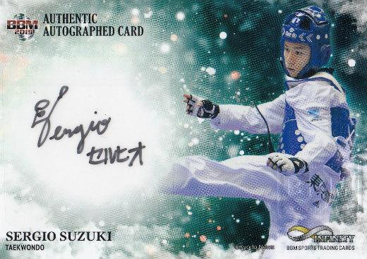 【直筆サインカード 23/90】BBM 2019 INFINITY 鈴木セルヒオ (横版/スペシャルインサートカード) スポーツトレーディングカード インフィニティ