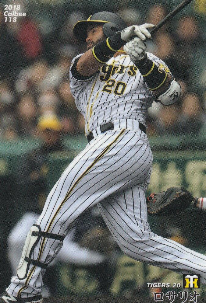 Calbee Professional Baseball Tips 2018 Second 118 Rosario Hanshin Regular Card