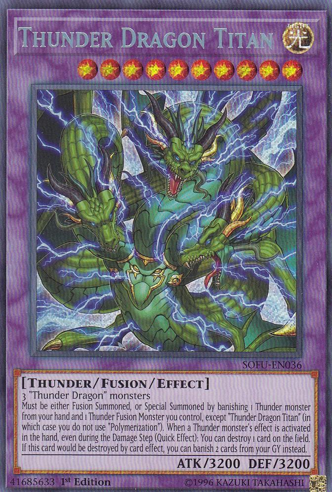 【Unlimited】遊戯王 SOFU-EN036 超雷龍-サンダー・ドラゴン Thunder Dragon Colossus (英語版 unlimited シークレットレア) Soul Fusion Pack
