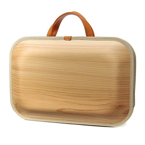 【木のバック】【木 バッグ】【木製 BAG 鞄】【高知県】[送料無料]monacca(モナッカ)bag-kaku-プレーン(伝統工芸/ブランド/小物/引越祝い/贈り物/オシャレ和/内祝い/国産/日本産/職人)