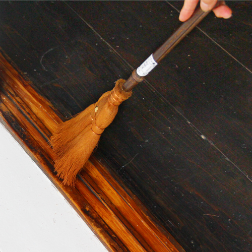 """Traditional crafts Yamamoto katsunosuke shopping see \ whip, and clean up! Interior Broom of quality craftsmanship! """"Palm (Palm) broom / 4 jade 手箒 (dust brooms and Palm / fashion design / long-handled broom clean equipment dust remove small decoys / gadg"""
