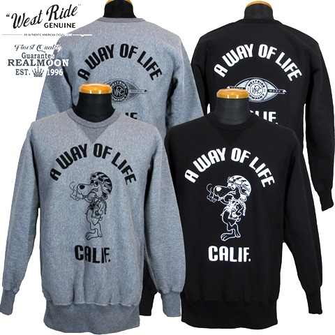 ☆WEST RIDE HEAVY WEIGHT FRONT V SWEAT