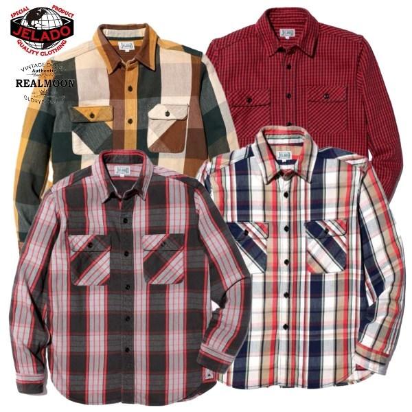 JELADO NEL SHIRT UnionWorkers Shirts(ユニオンワーカーズシャツ) JP62125メンズファッション アメカジ  [JELADO / ジェラード]ネルシャツ  No.JP62125 ユニオンワーカーズ レギュラー丈タイプ メンズファッション アメカジ