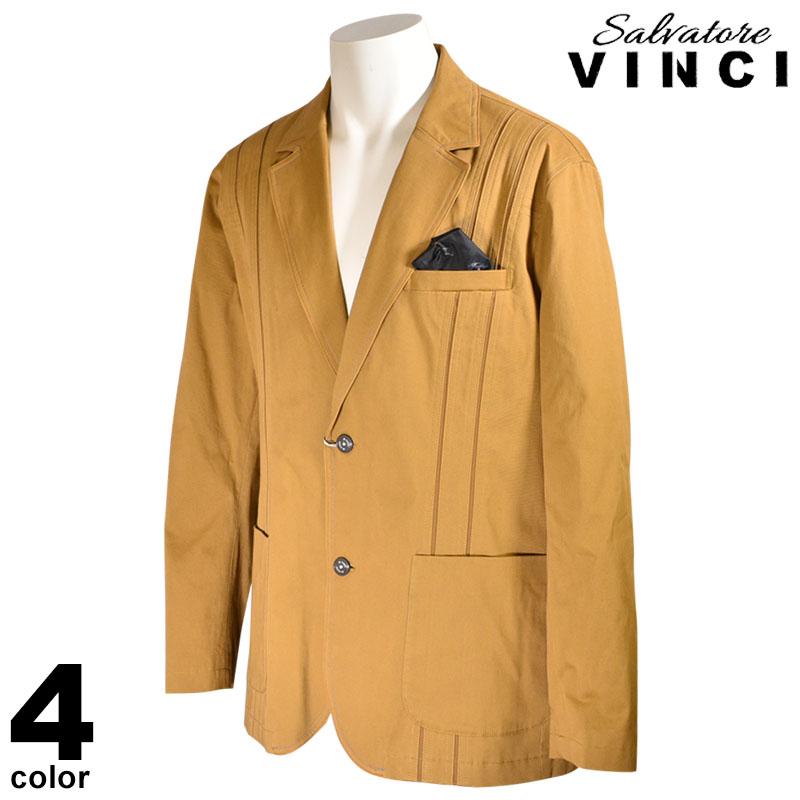 ヴィンチ VINCI テーラードジャケット メンズ 2020秋冬 ステッチ 木 動物 ロゴ 08-4101-09