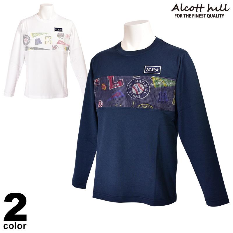 アルコットヒル ALCOTT HILL 長袖カットソー メンズ 2020春夏 クルーネック メッシュ 01-1502-10