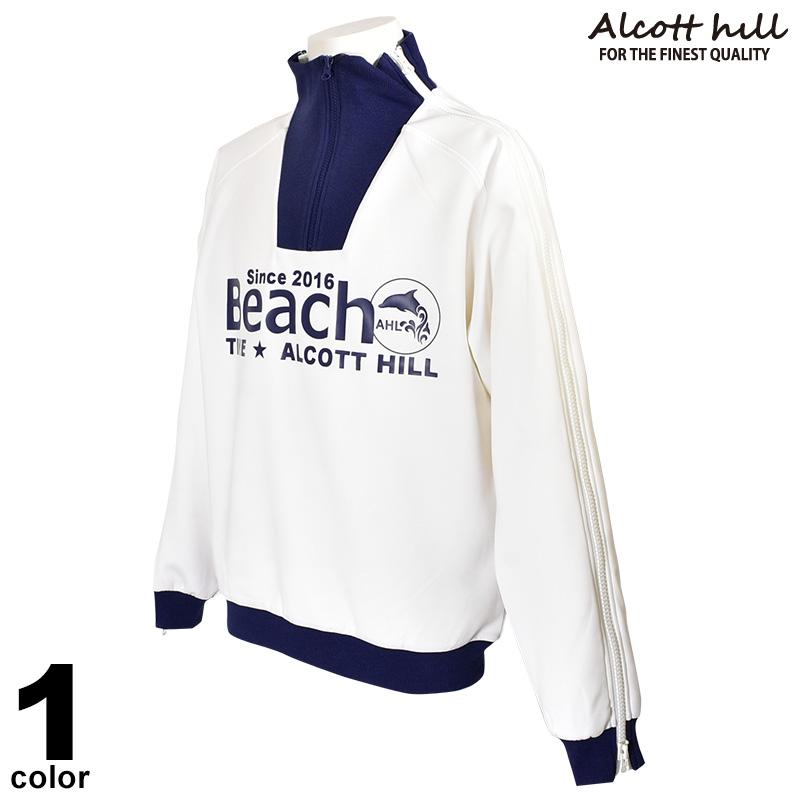 アルコットヒル ALCOTT HILL 長袖 トレーナー メンズ 2020春夏 ジップアップ ロゴ 01-6507-10