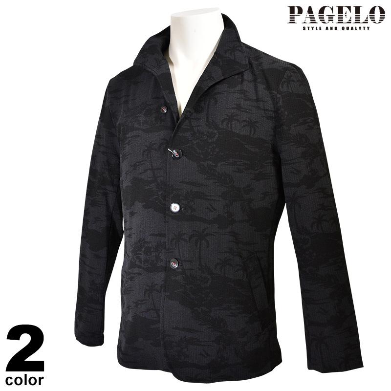 パジェロ PAGELO 長袖 ジャケット メンズ 2020春夏 ジャガード 01-4103-07