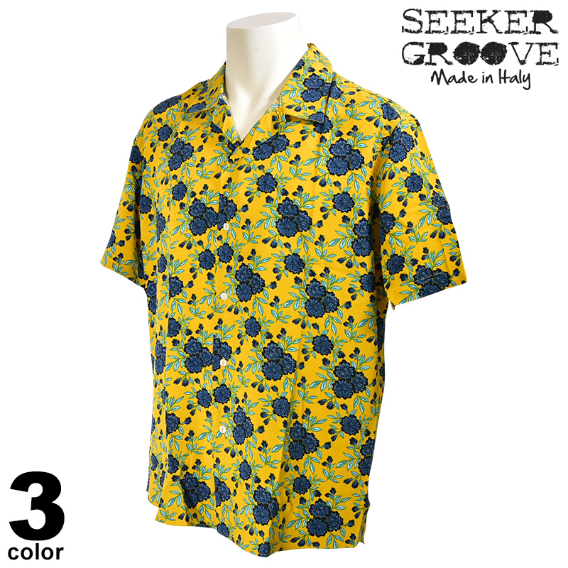 20%OFF SEEKER GROOVE シーカーグルーブ 半袖 カジュアルシャツ メンズ 2020春夏 ハワイアン インポート 04-2002-44